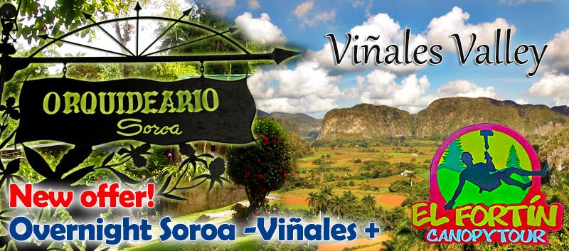 Overnight to Soroa and Viñales, now with El Fortin Canopy Tour!